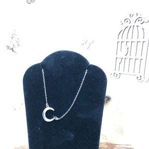 Jewelry - Sterling Dainty Minimalist Crescent Moon Necklace